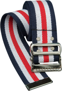 Cotton Gait Belt, Red, White and Blue